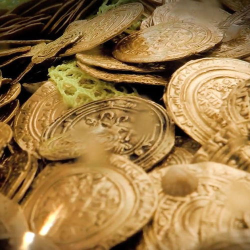 Discovering an Underwater Hoard of Gold